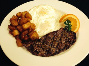 Jolly coachman steak and eggs